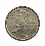 Quart de dollar des USA Louisiane photographie stock