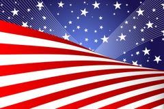 Quart de drapeau de juillet Photographie stock