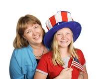Quart de famille de juillet Images libres de droits