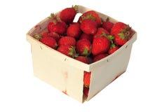 Quart de fraises photographie stock libre de droits