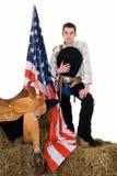 Quart de juillet, cowboy Photos stock