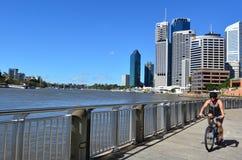 Quart de rive de Brisbane - peu de Singapour Photo libre de droits