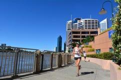 Quart de rive de Brisbane - peu de Singapour images stock