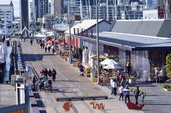 Quart de Wynyard Auckland - Nouvelle-Zélande Images stock
