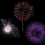 Quart des feux d'artifice de juillet Photo stock