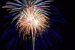 Quart des feux d'artifice de juillet Image libre de droits