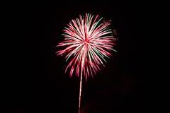 Quart des feux d'artifice de juillet Images libres de droits