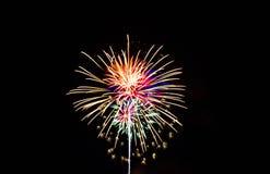 Quart des feux d'artifice de juillet Photo stock