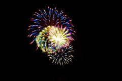 Quart des feux d'artifice de juillet Photographie stock libre de droits