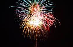Quart des feux d'artifice de juillet Image stock