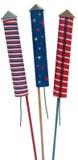 Quart des fusées éclairantes de juillet Photo stock