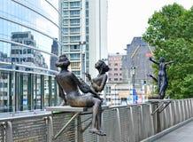 Quart européen au centre de Bruxelles Image stock