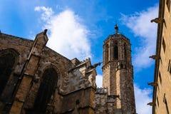 Quart gothique dans la vue de Barcelone, Espagne - image images libres de droits
