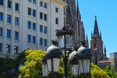Quart gothique de Barcelone à Barcelone, Espagne le 22 juin 2016 Photos stock