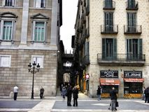 Quart gothique de Barcelone photographie stock libre de droits