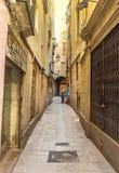 quart gothique de voie de lampe de Barcelone Photo stock