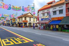 Quart indien à Singapour Photo stock