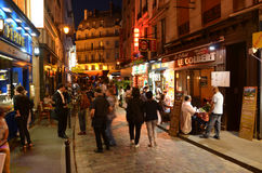 Quart latin de Paris Image libre de droits