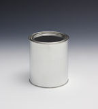 Quart Paint Can. Plain quart size paint can with lid on Royalty Free Stock Photos