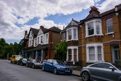 Quart résidentiel de Greenwich photo libre de droits