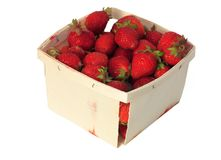 Quart of Strawberries royalty free stock photography