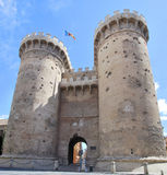 Quart towers. With gunshots of the Independence war in the city of Valencia. Spain Royalty Free Stock Photography