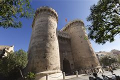 The Quart Towers fron Valencia Royalty Free Stock Images