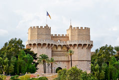 Quart Towers gunshots Valencia Spain. Quart Towers with gunshots of Independence war in city of Valencia Spain Royalty Free Stock Image