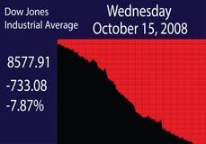 Quarta-feira preta O impacto de mercado de valores de ação ilustração royalty free