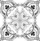 Quarte fleurie baroque de calligraphie Photographie stock