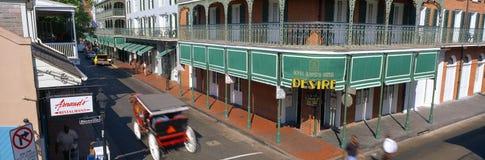 Quarte francês em Nova Orleães, Fotos de Stock