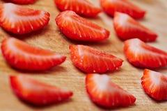 Quarted fresh strawberries Royalty Free Stock Photo