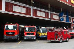 Quartel dos bombeiros da central de Makati Imagem de Stock Royalty Free