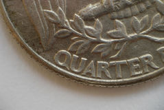 Quarter. Coin detail Royalty Free Stock Photography