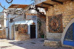 Quarter of artists, old city Safed, Upper Galilee, Israel Stock Photography