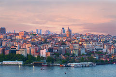 Quarter of Beyoglu and Galata tower Stock Photos