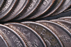 Quarter coins Royalty Free Stock Images