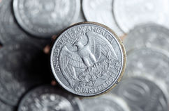 Quarter dollar Stock Photos
