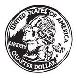 Quarter dollar coin Stock Photos
