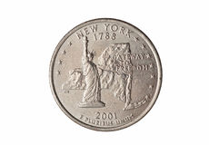Quarter of dollar coin Royalty Free Stock Image