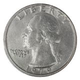 Quarter dollar Stock Photography