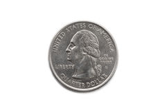 Quarter dollar coin macro Royalty Free Stock Photo