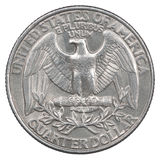 Quarter dollar coin stock image