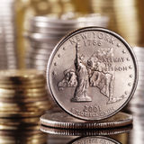 Quarter dollar Stock Image