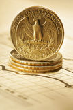 Quarter dollar Stock Photo