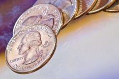 Quarter Dollars Royalty Free Stock Photo