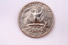 Quarter eagle side Royalty Free Stock Photo