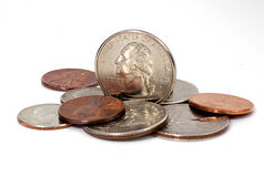 Quarter on Edge Stock Images