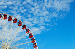 Quarter of a Ferris Wheel Stock Images