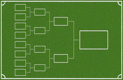 Quarter final. Chart on green background Royalty Free Stock Photos